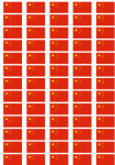 China Flag Stickers - 65 per sheet